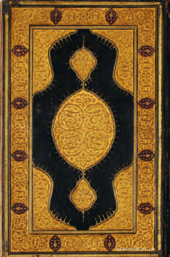 16- The binding cover of Sultan Mehmed II's Endowment Deed (Archives of Directorate General of Foundations)