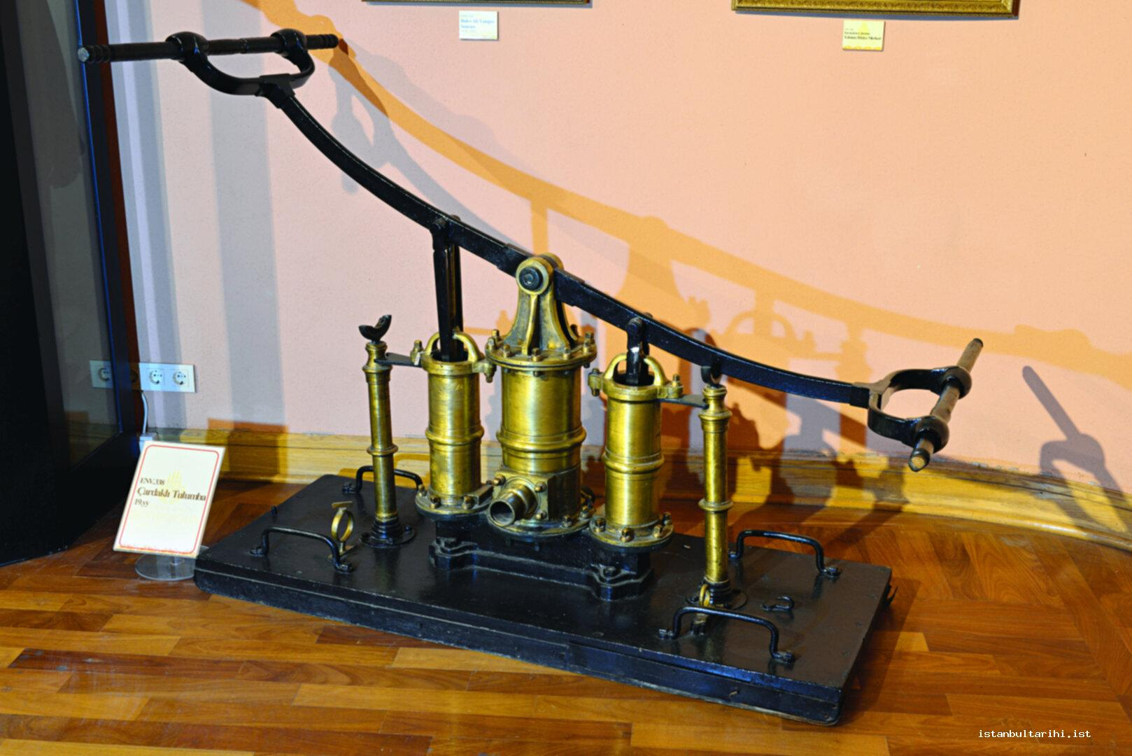 10b- Sheltered pumps from the 19<sup>th</sup> century (Istanbul Metropolitan Municipality,   Fire Department Museum)