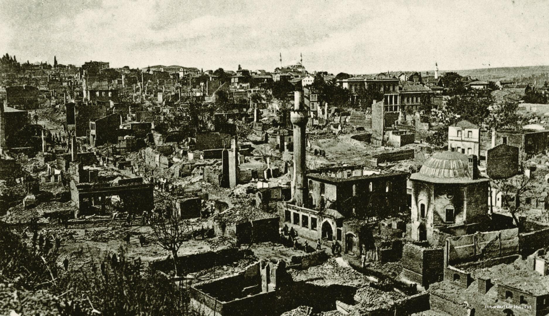 11- A scene from the city after 1908 Fire
