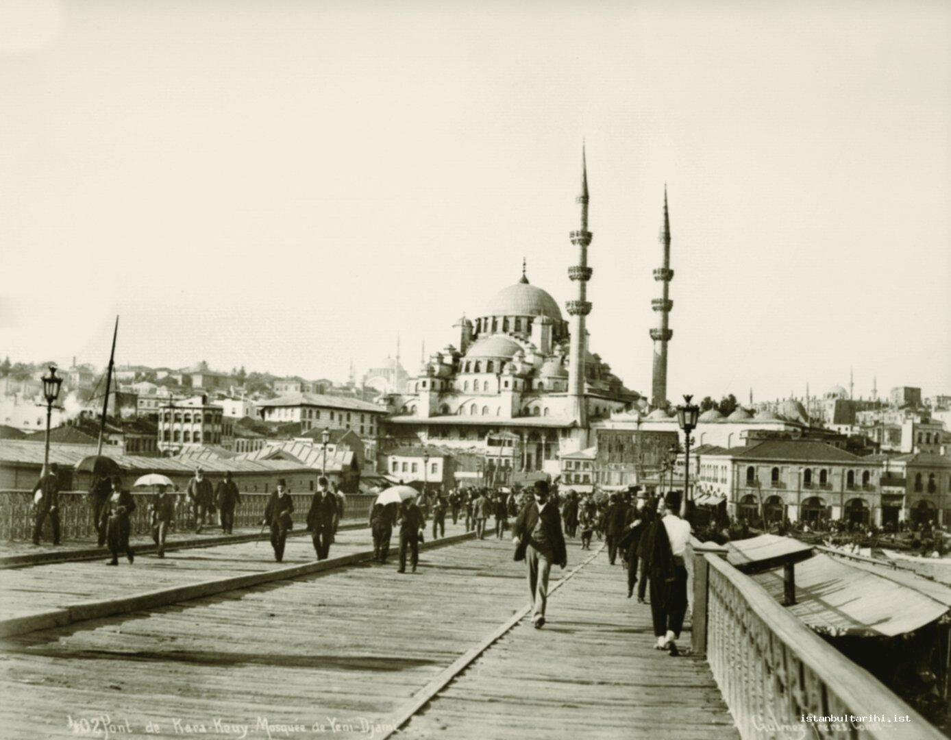 3- The view of New Mosque from Galata Bridge (Yıldız Albums)