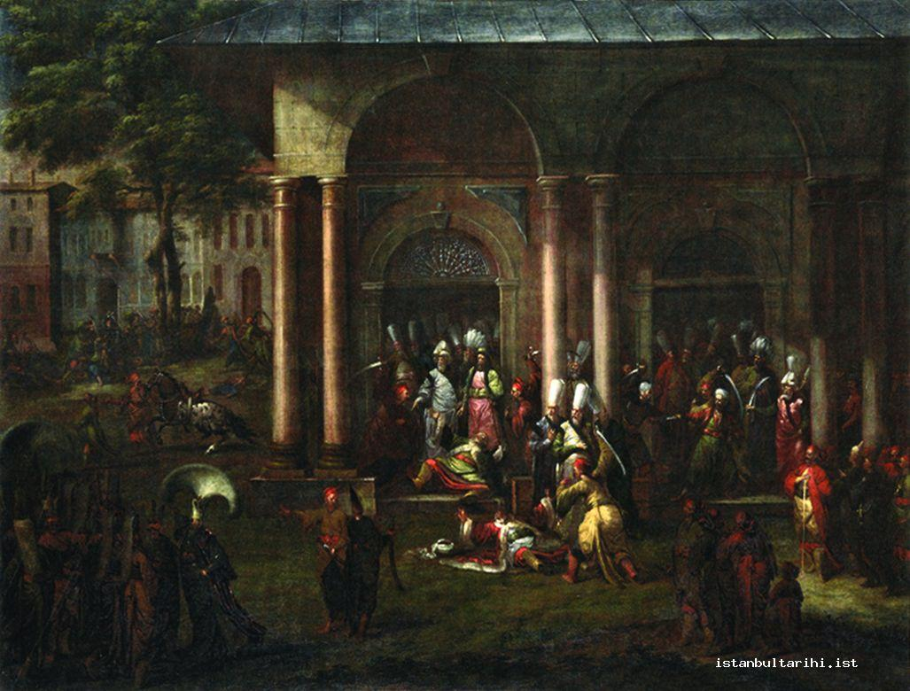 4- Killing Patrona Halil and his friends (Vanmour, Amsterdam, Rijk Museum)