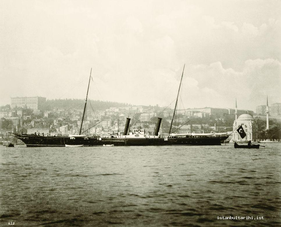 22- <em>Izzeddin</em> the Imperial boat which also used to be assigned to the service of foreign statesmen's tours in Istanbul (Yıldız Albums)