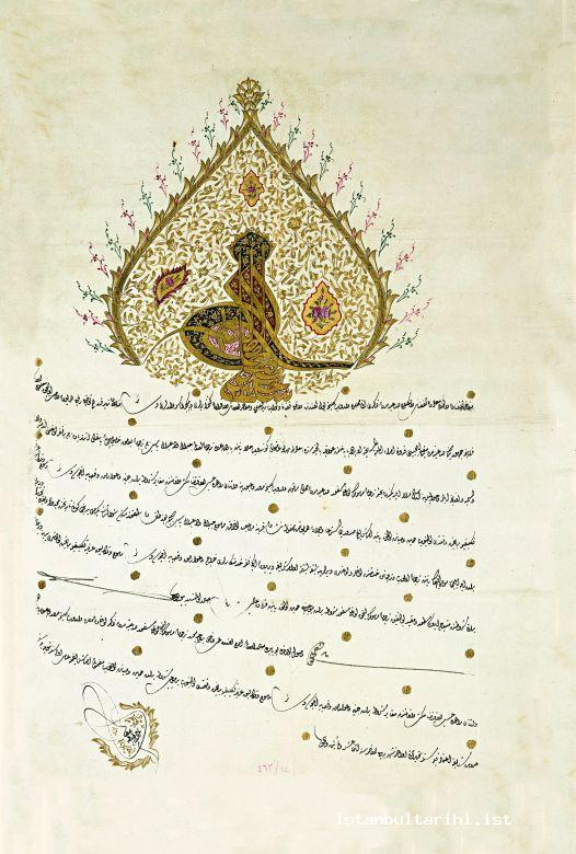 6- An edict about the son of Yaseb who worked as an interpreter at French Embassy in Istanbul (1797) (BOA MF, no. 463/3)