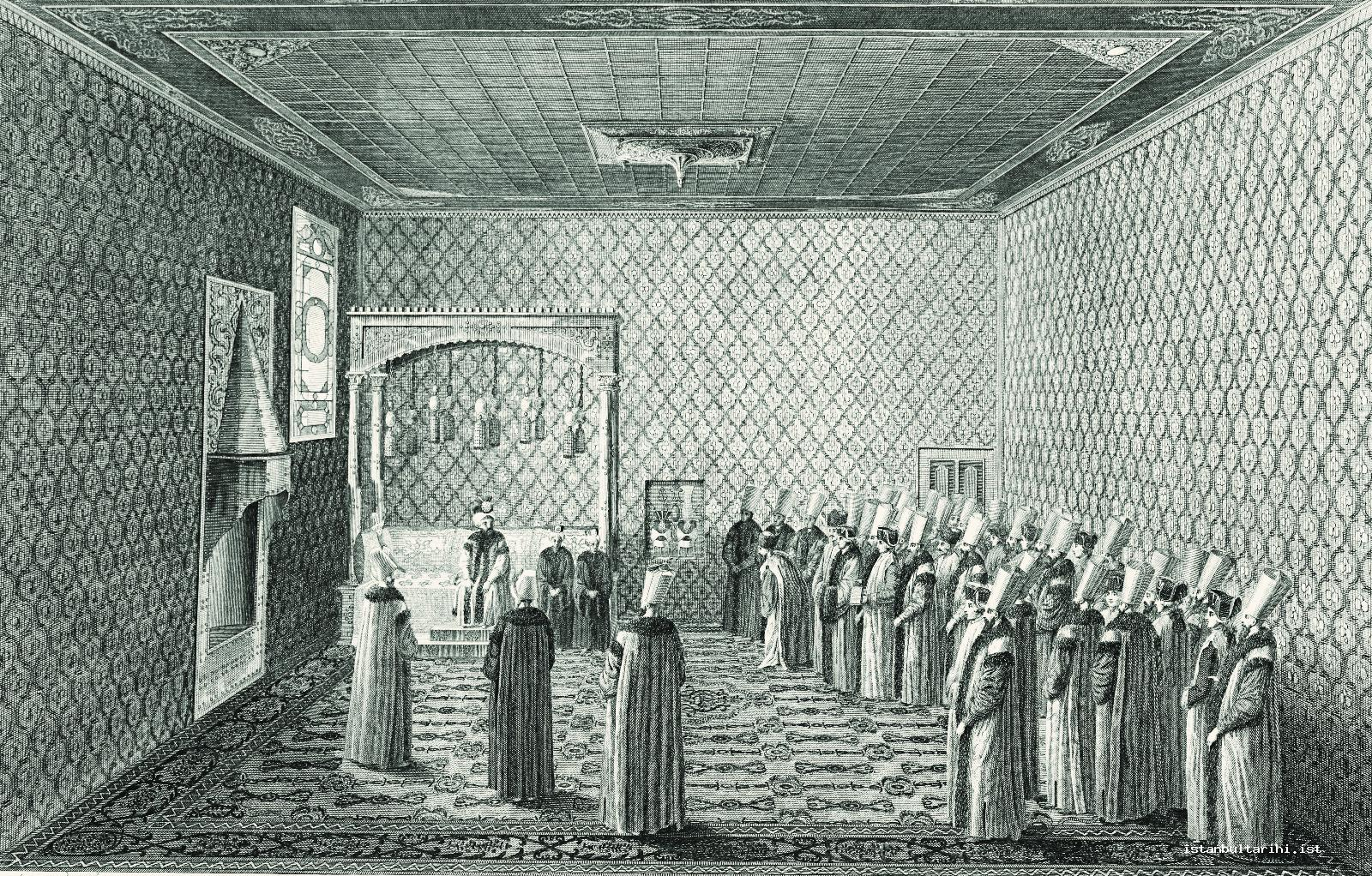8- Sultan Selim III's admission of an ambassador in the admission hall (d'Ohsson)