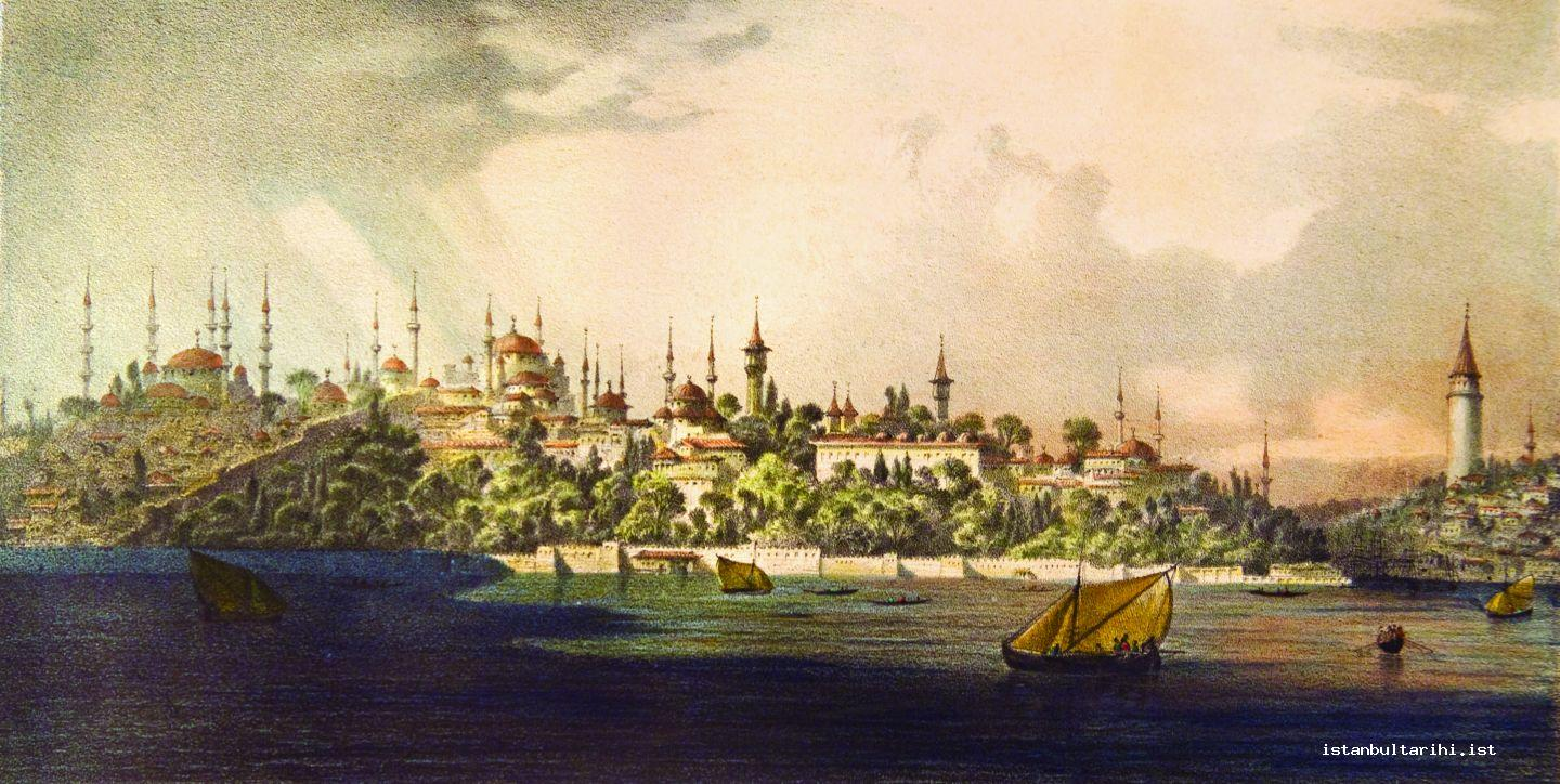 1- The view of Sultanahmet and Galata from Üsküdar (Flandin)
