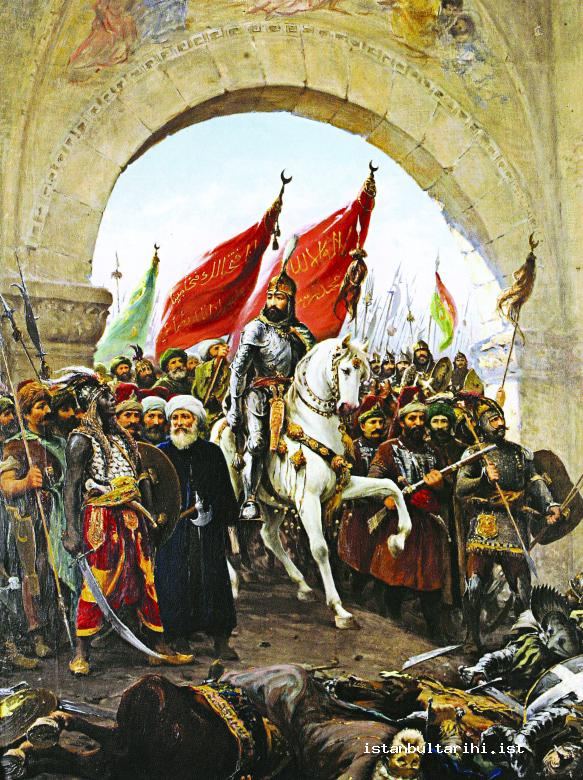 29- Sultan Mehmed II's entrance to the city (Zonaro)