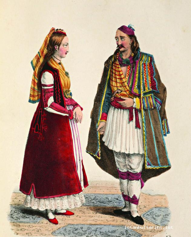 22- A Greek man and a woman in their traditional clothes (Thomas Shaw)