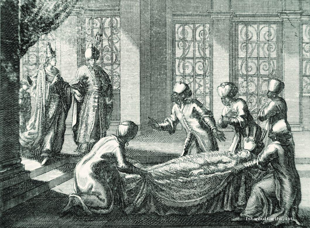 8- Sultan Ibrahim coming to see Sultan Murad IV's body (Rycaut)