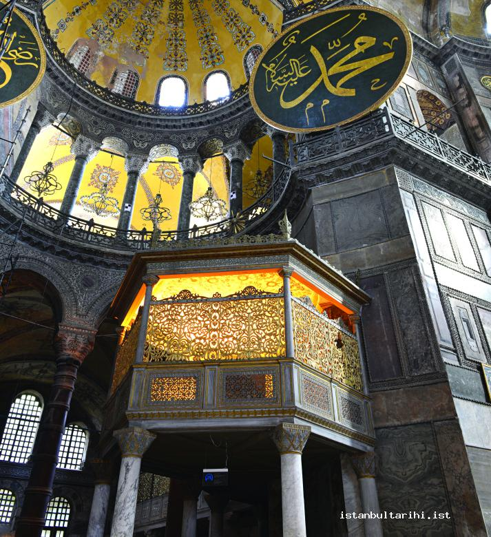2- Ottoman Sultans' private pew in Ayasofya Mosque where they performed Friday Prayer