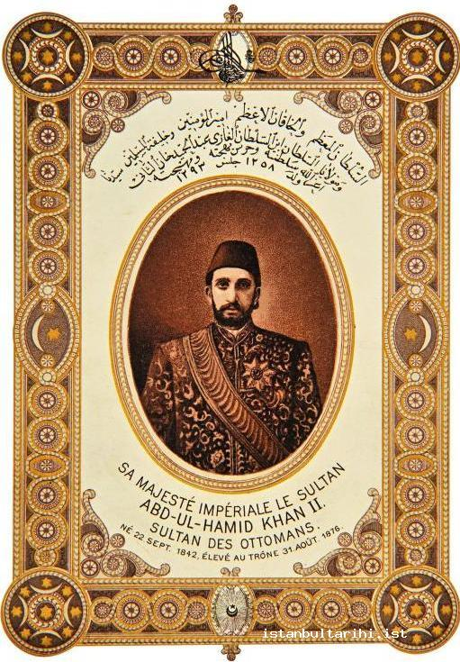8- The postcard of Sultan Abdülhamid II, one of the Ottoman sultans who used