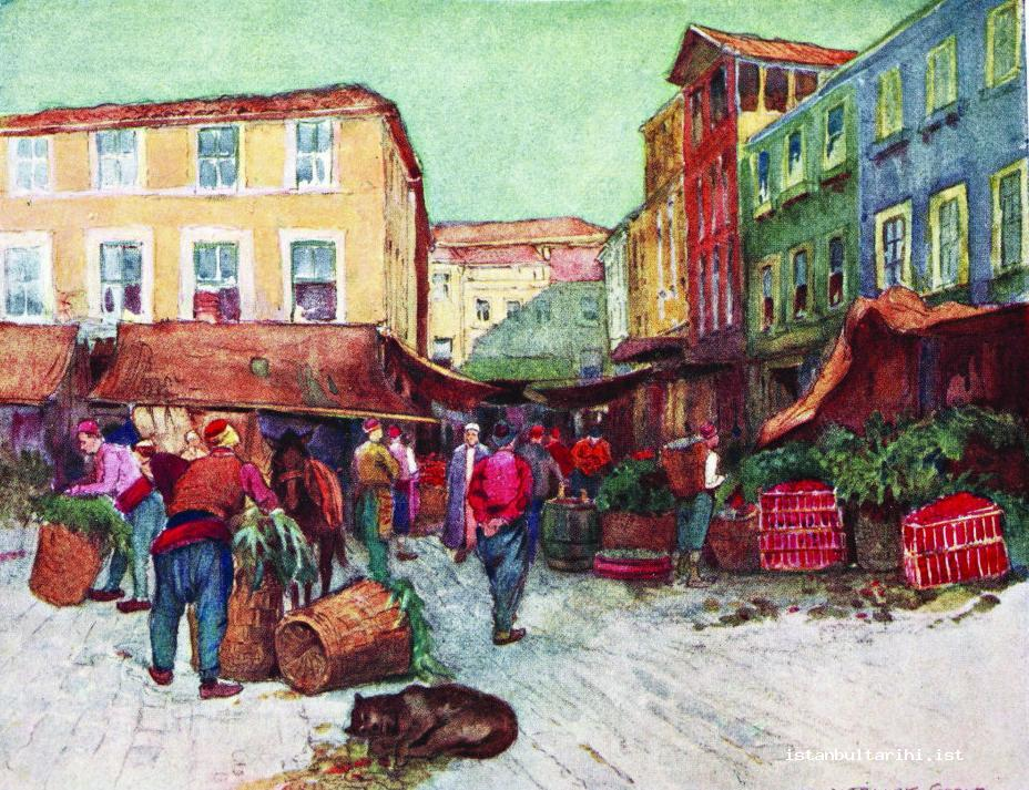 11- A district market place in Istanbul (Millingen)