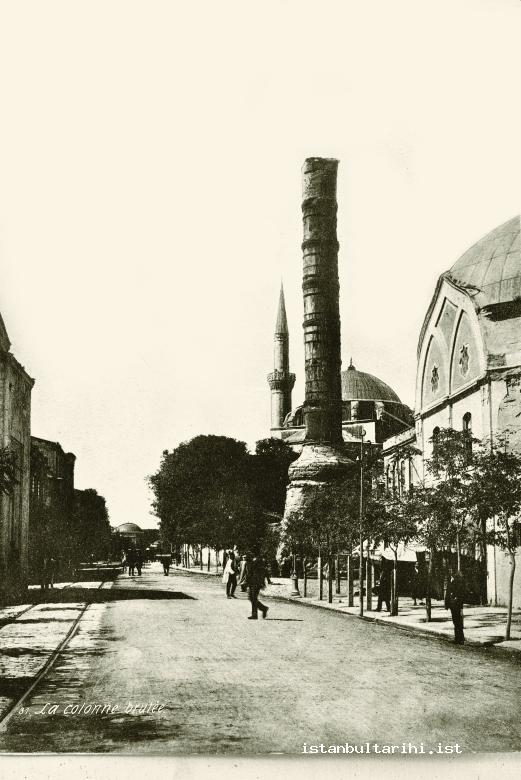 3-MetropolitanThe road of Mese, Çemberlitaş (the Column of Constantine) (Istanbul Municipality, Atatürk Library)