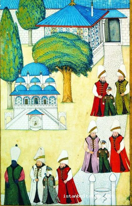 23- Sultan Ahmed III's sons coming out of Harem for the ceremonies of their circumcision (Vehbi)
