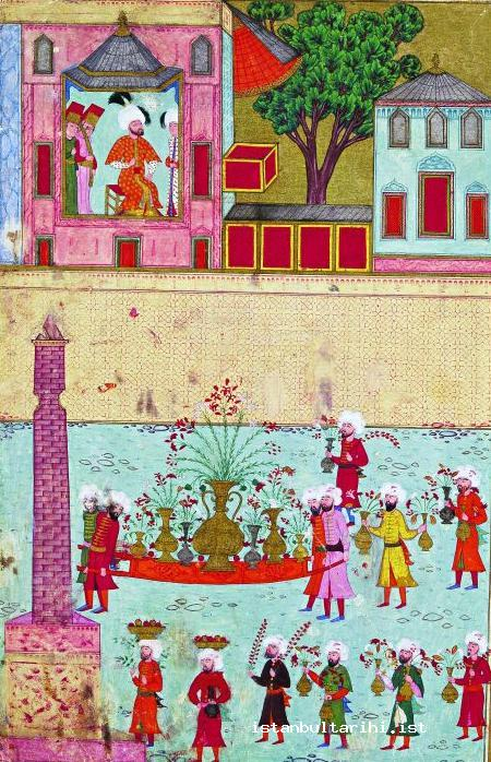 23- The parade of the gardeners in the festivities of 1582 (İntizami)