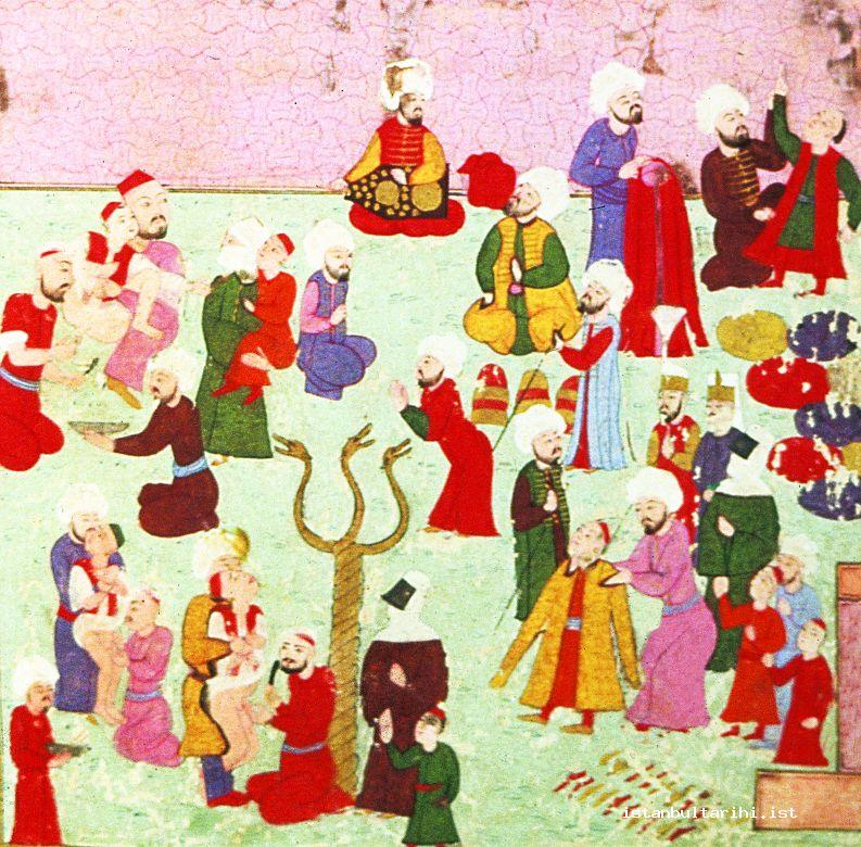 1- A collective circumcision ceremony of the children in the festivities of 1530 (<em>Şehinşahname</em>)