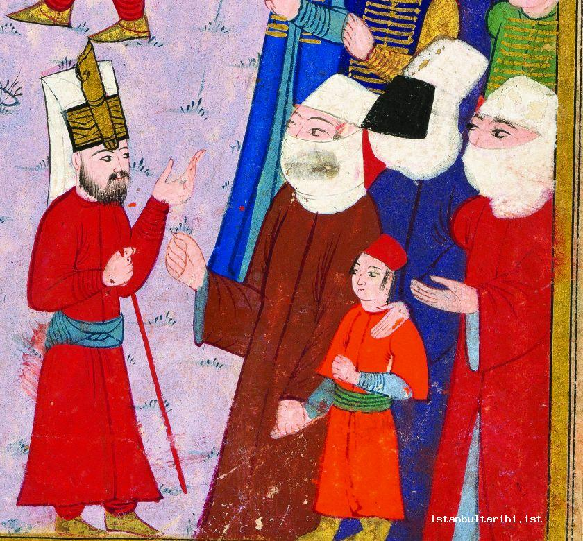 3- A child and ladies watching the shows in the festivities of 1582 (<em>İntizami</em>)
