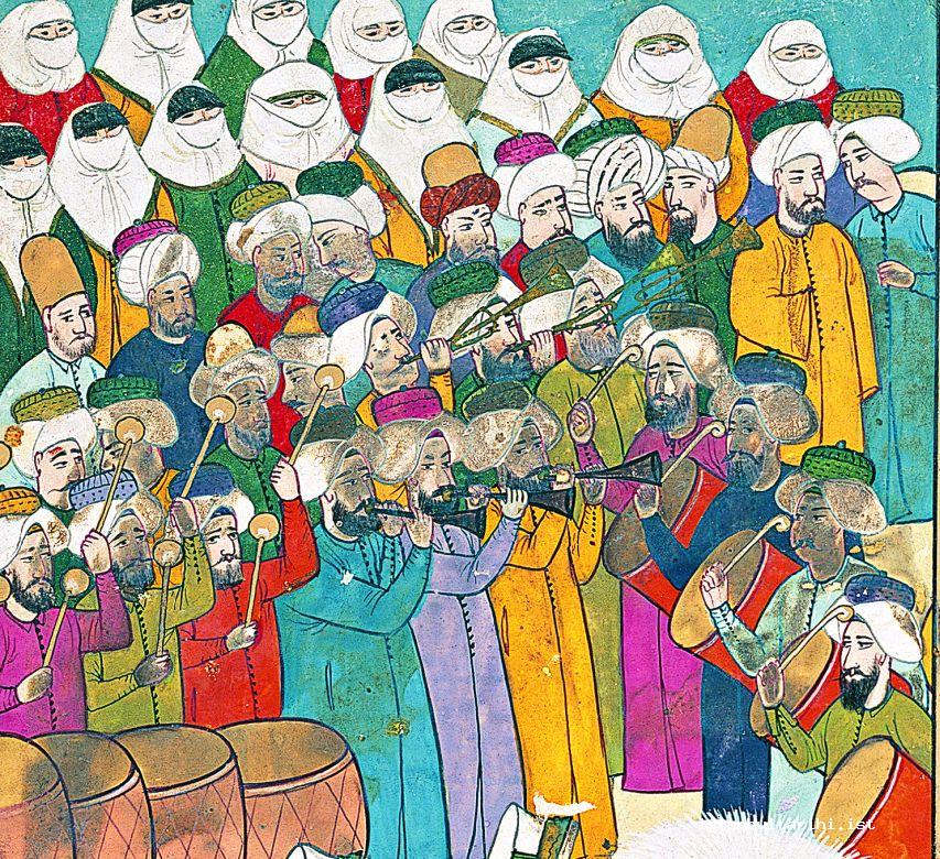 7- Ladies and gentlemen of Istanbul watching the festivities of 1720