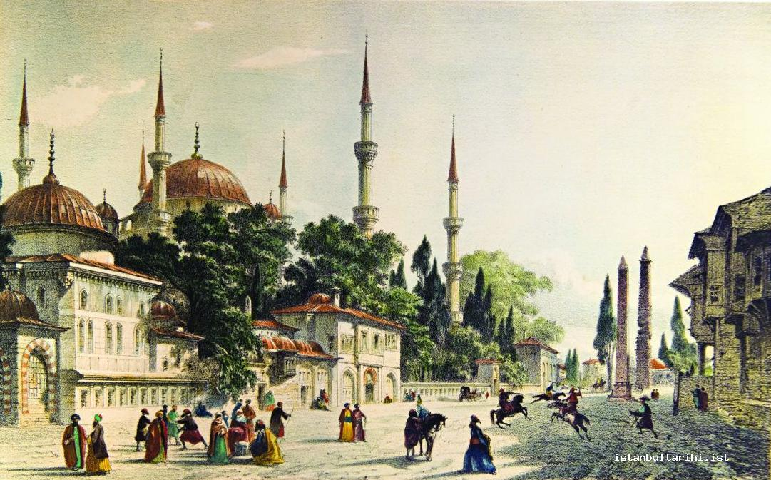 12- Sultanahmet Square, the most important meeting place of the people of Istanbul (Flandin)
