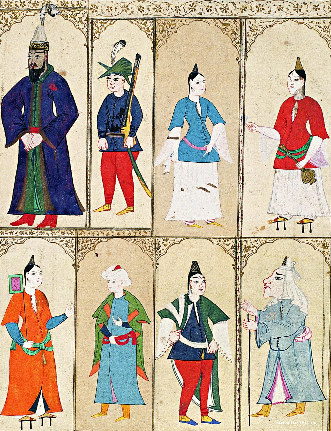 5- Men and women of Istanbul (The album of Sultan Ahmed I, Topkapı Palace Museum Library, no. B. 408)