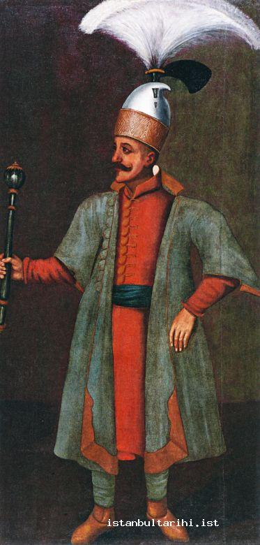 9- Çorbacı with broom shaped plume, an officer of janissaries (Hörmann-Gemminger, Doha, Orientalist Museum)