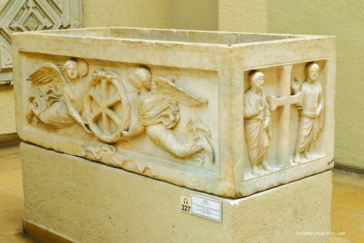 3- A sarcophagus in the Church of Apostles which believed to belong to emperors' cemetery (Istanbul Archeology Museum)