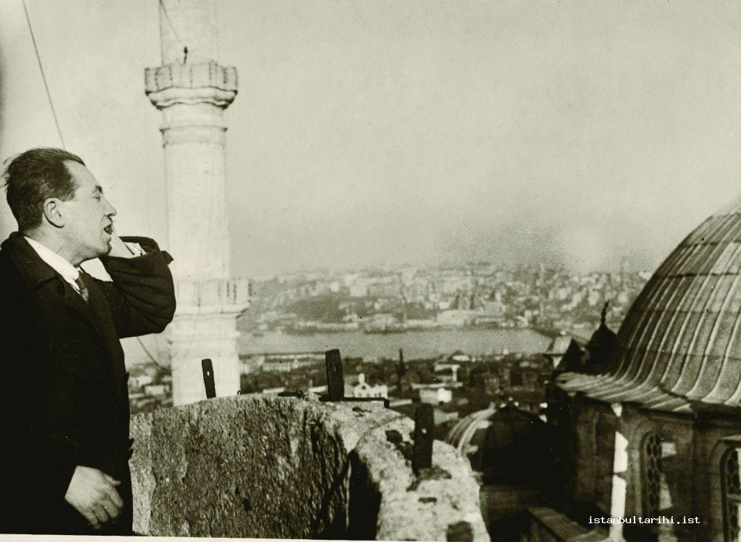 5- Recitation of adhan in Turkish for the first time by Hafiz Rifat Bey from the minarets of Fatih Mosque in Istanbul, 30 January 1932 (Istanbul Metropolitan Municipality, Atatürk Library)
