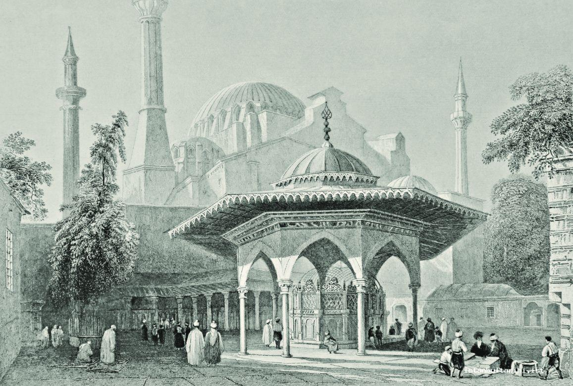 2- The yard of Ayasofya Mosque (Pardoe)