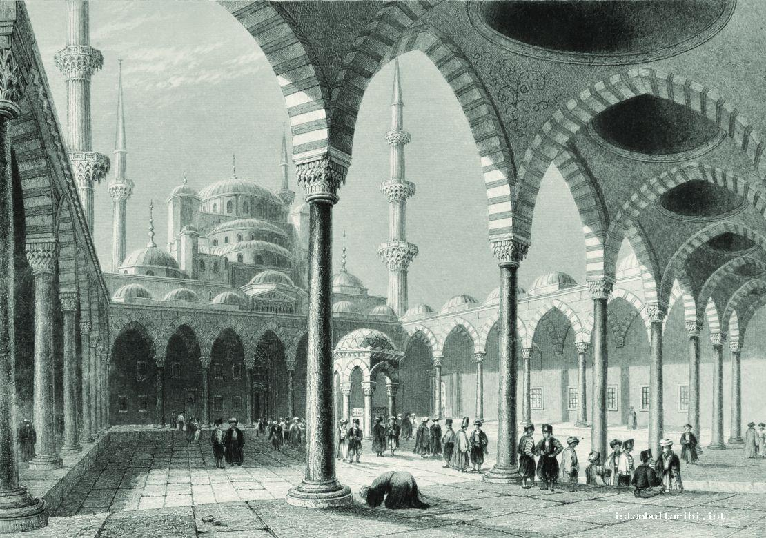 3- The yard of Sultanahmet Mosque (Pardoe)