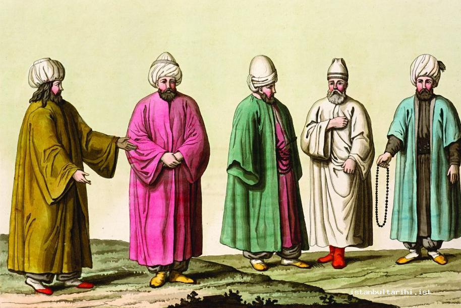2- The clothes of the masters and dervishes of the Sufi orders (d'Ohsson)