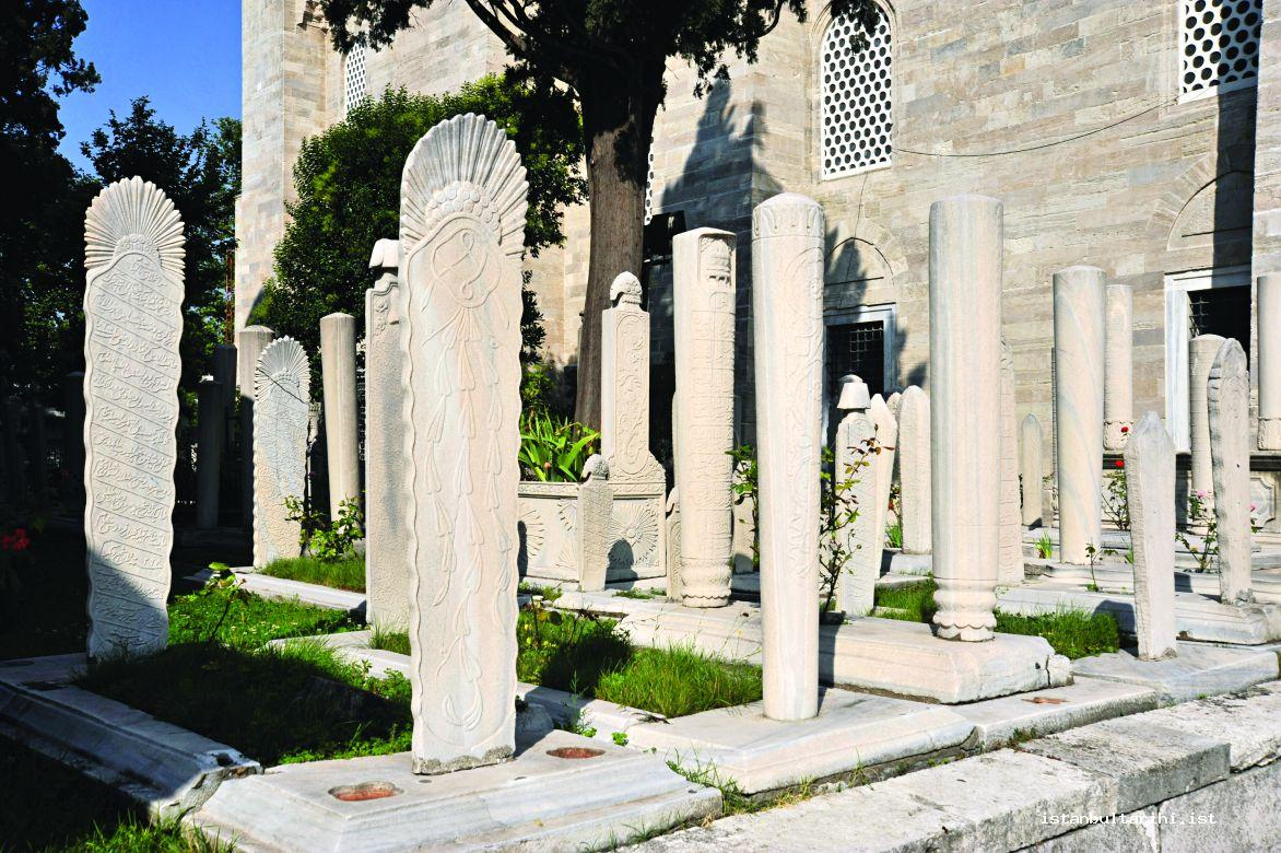 4- Some samples from the gravestones in the covered graveyard of Süleymaniye Mosque