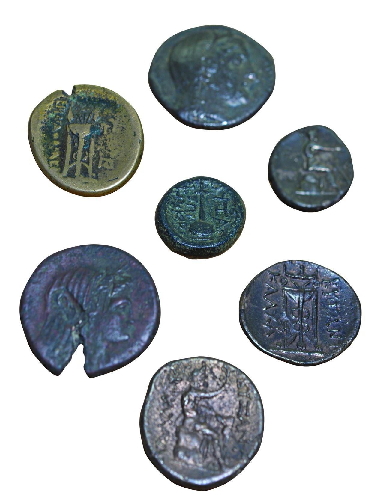 2b- The coins of the city of Byzantium in 3<sup>rd</sup> – 2<sup>nd</sup> century BCE (Istanbul Archeology Museum, Coins Section)