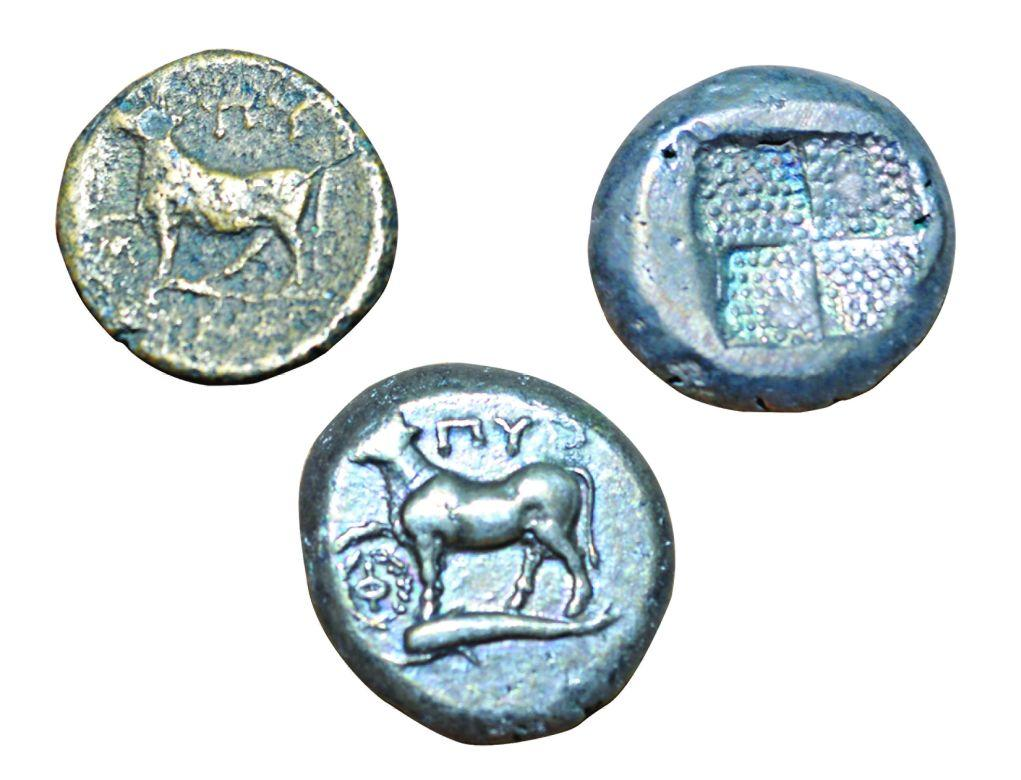 2a- The coins of the city of Byzantium in 3<sup>rd</sup> – 2<sup>nd</sup> century BCE (Istanbul Archeology Museum, Coins Section)