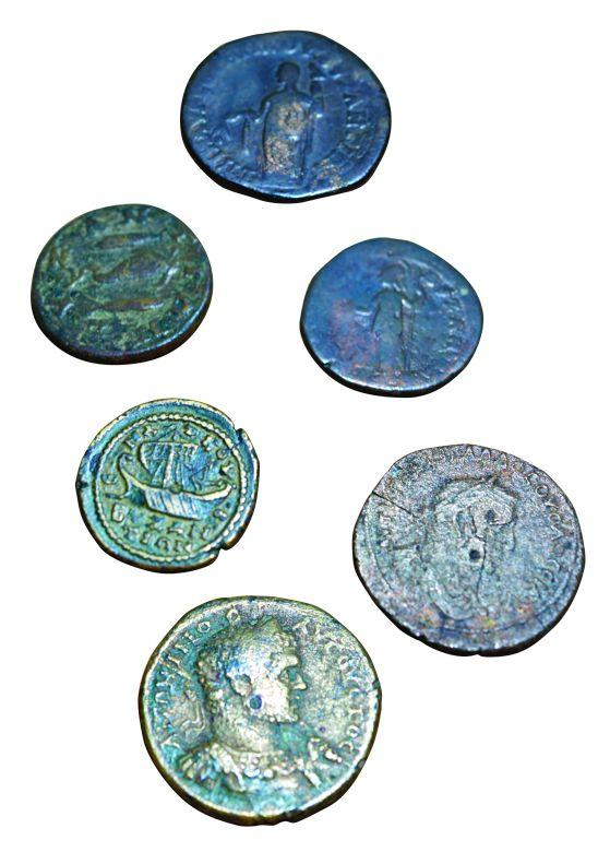 6- The coins minted in the early period in Constantinople (Istanbul Archeology Museum, Coins Section)