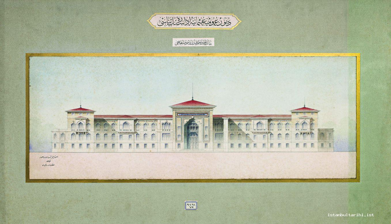 25- The building of Ottoman Public Debts (currently Istanbul Boys' High School) (Istanbul University, Rare Books and Special Collections Library, Maps Section)