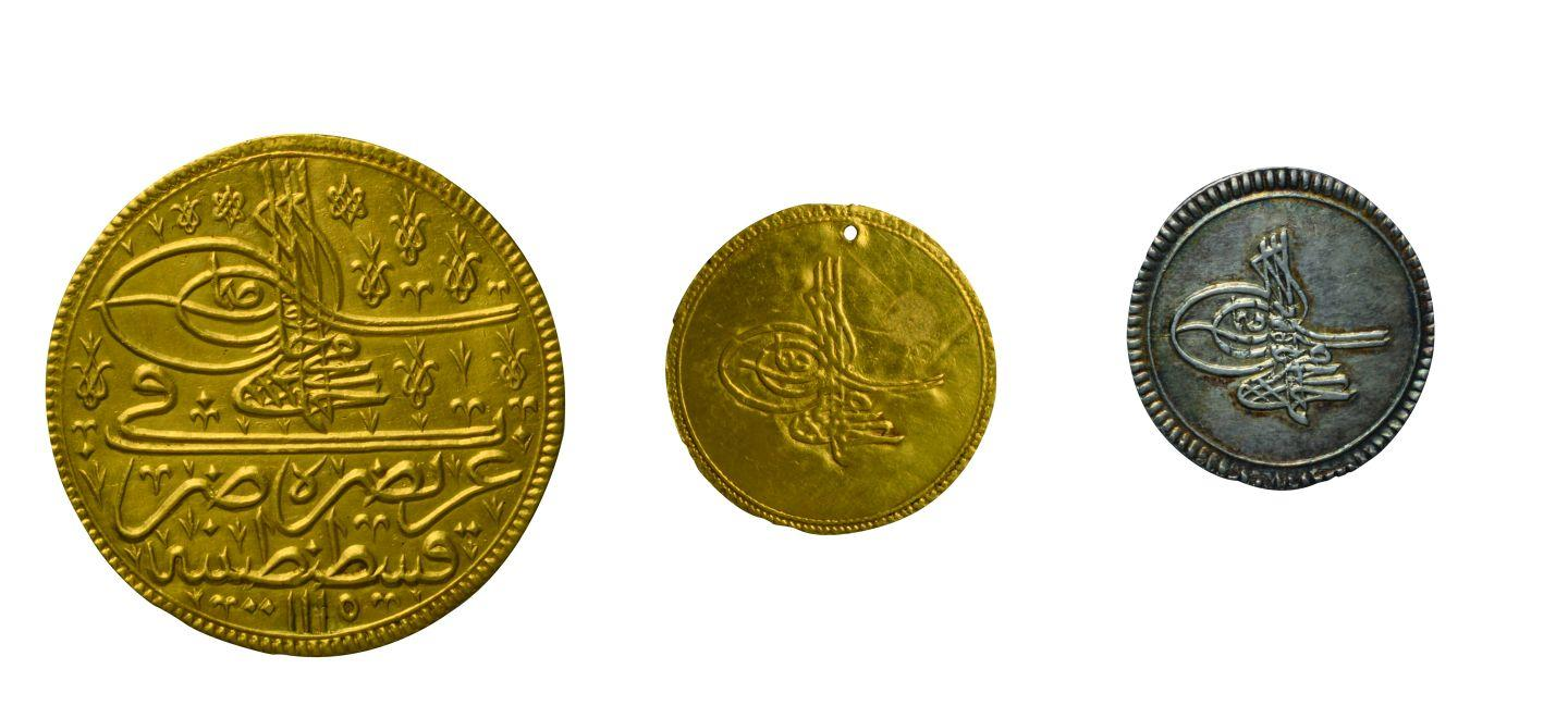 7- Samples from the coins minted in Istanbul during the period of Sultan Ahmed III (Istanbul Archeology Museum, Coins Section)