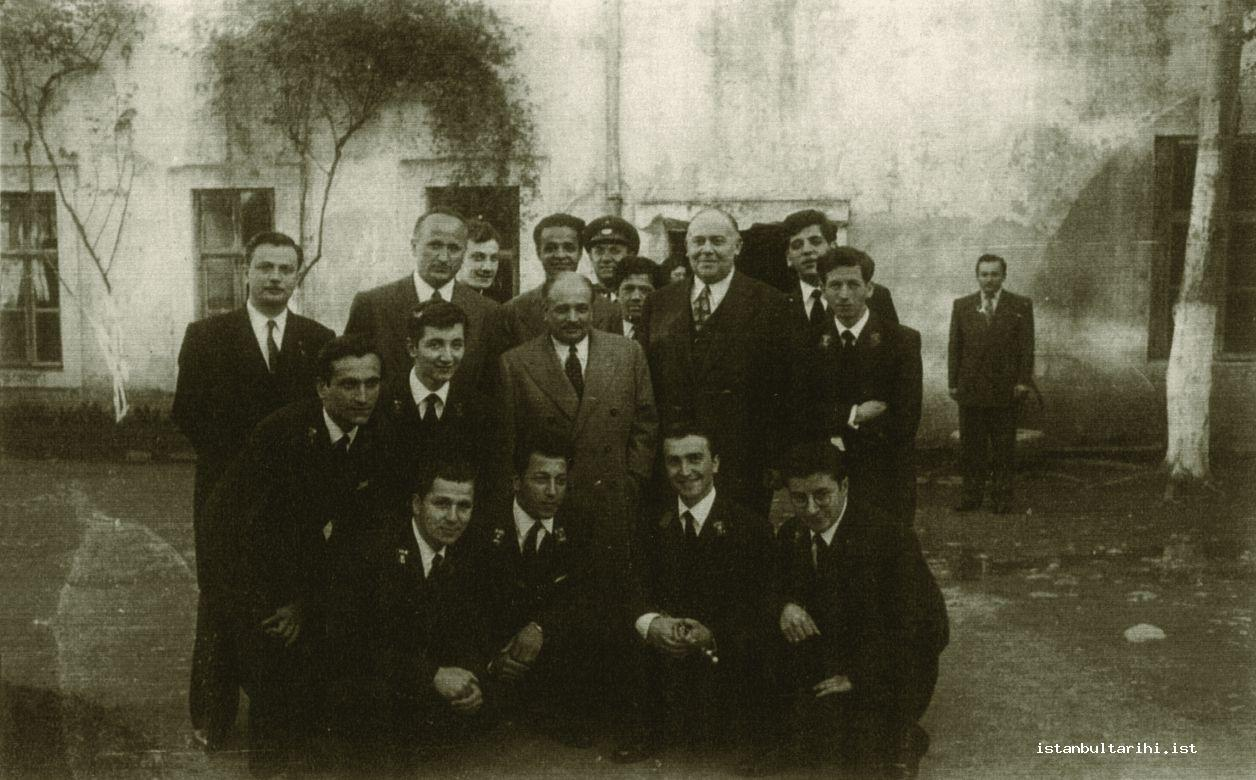 11- Principal Eşraf Antikacı, harmonica conductor Asım Güzey and some students