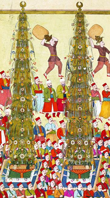 4- Nahls (palm tree shaped ornaments) in the festivities of 1720 (Vehbi)