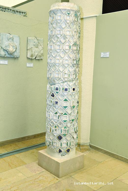 4- Inlaid column found in Saraçhane excavations (Istanbul Archeology Museum)