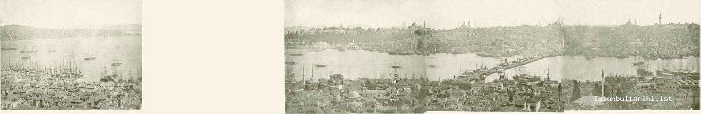 5- Istanbul from Galata Tower, 1853-1854, James Robertson 604 X 250 mm, acidic paper