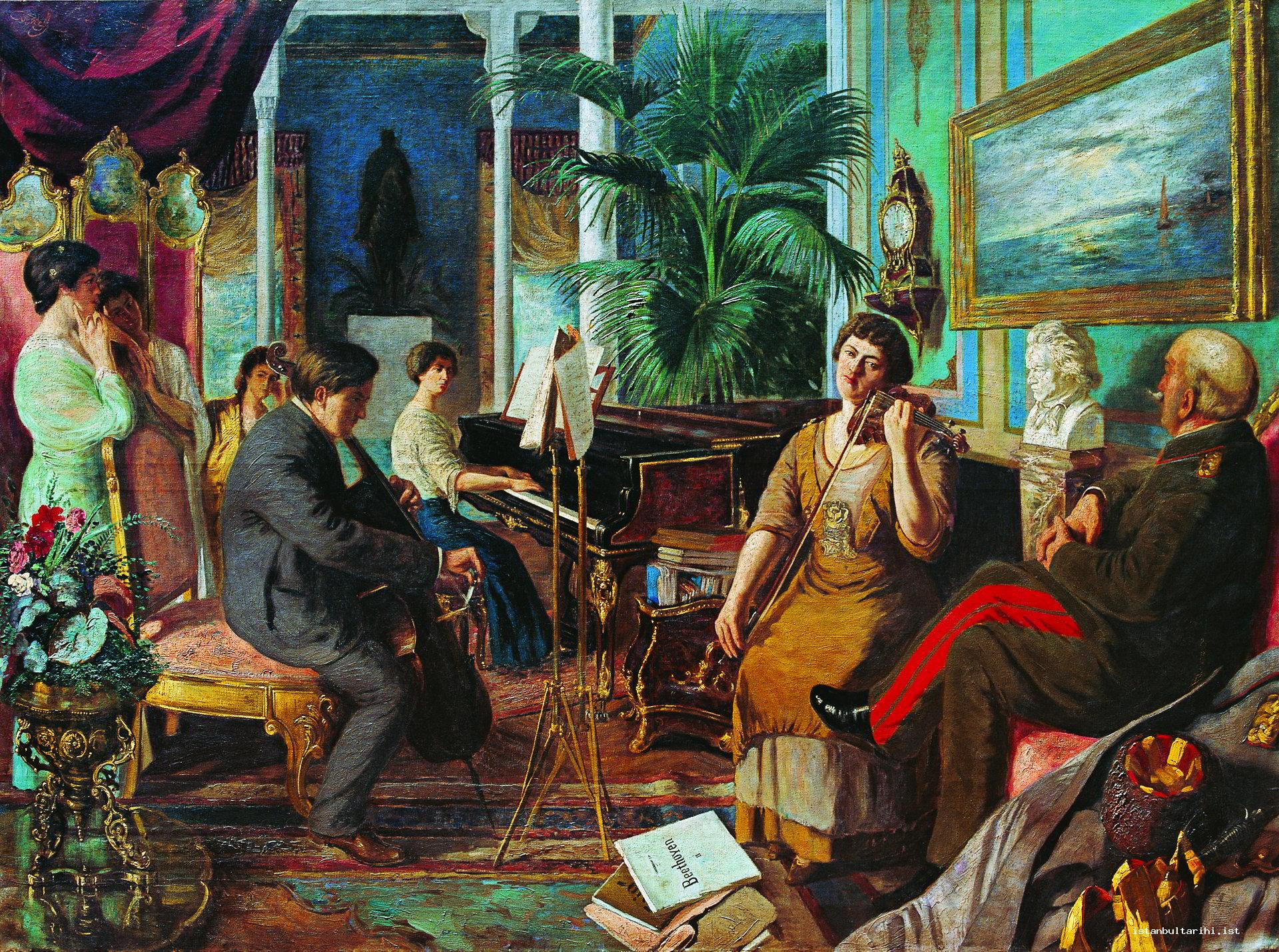 "21- ""Beethoven in Harem."" Caliph Abdülmecid Efendi listens to Beethoven in the harem section of Abdülmecid Efendi Mansion in Bağlarbaşı which used to be the place