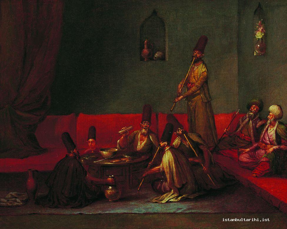 4- Possibly dervishes who ate in one of the rooms of Galata Mawlawi lodge,