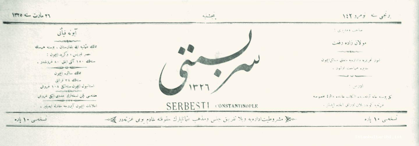 4 - Newspaper of <em>Serbesti</em>