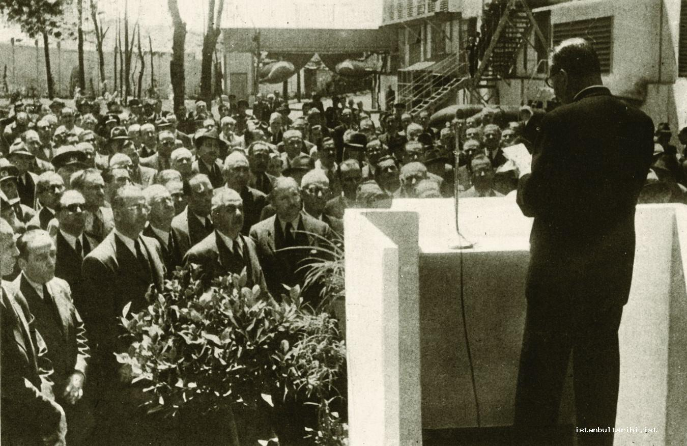 14- The opening ceremony of Silahtarağa Electric Factory power plant building constructed during the period of Turkish Republic (<em>Cumhuriyet Devrinde İstanbul</em>)