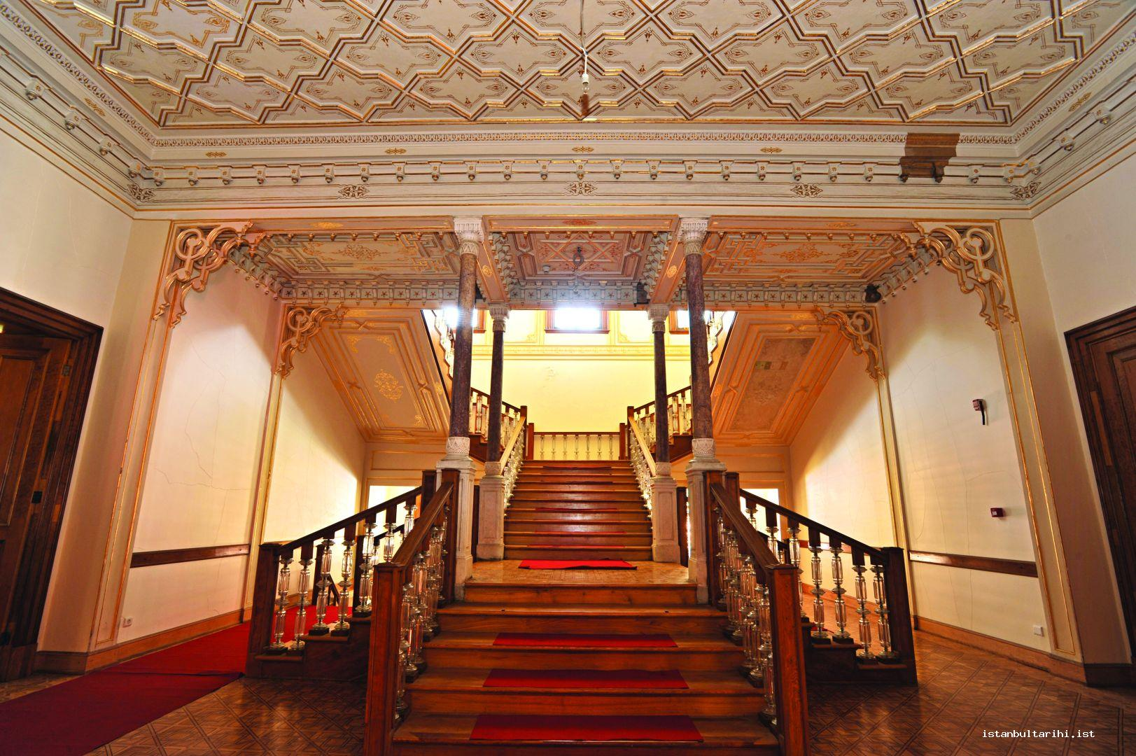 11- The stairs to the second floor of Mabeyn Mansion