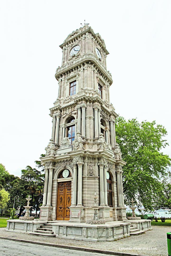 4- The clock tower of Dolmabahçe Palace