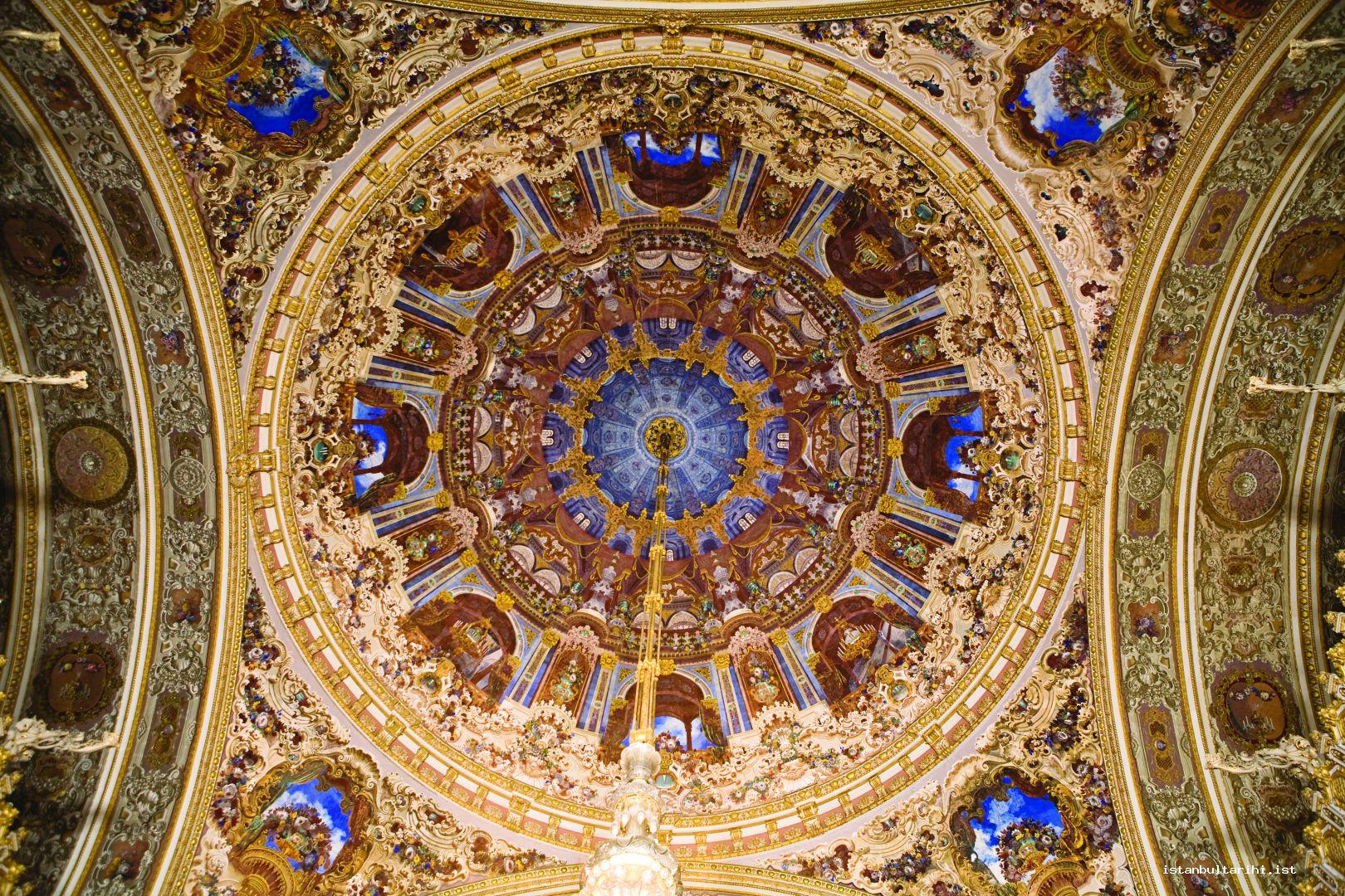 7- The dome of Muayede Hall in Dolmabahçe Palace