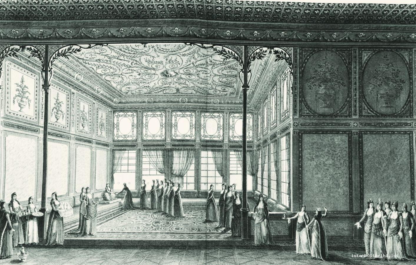 5- The hall for hosting guests in the palace of Hatice Sultan (Sultan Selim III's sister) (Melling)