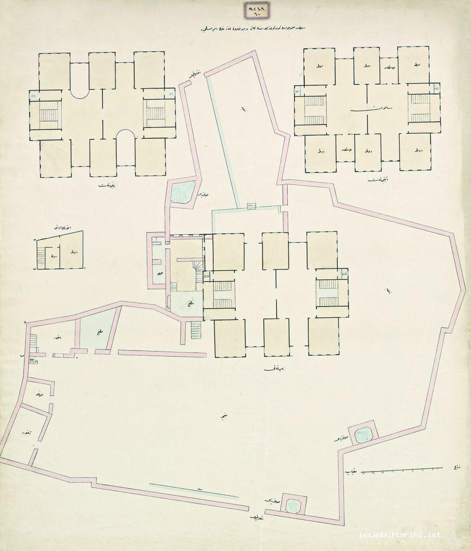 8- The plan of the house number 5 (two floors and the ground floor) in Güngörmez district around Sultanahmet (Istanbul University, Rare Books and Special Collections Library, Maps Section)