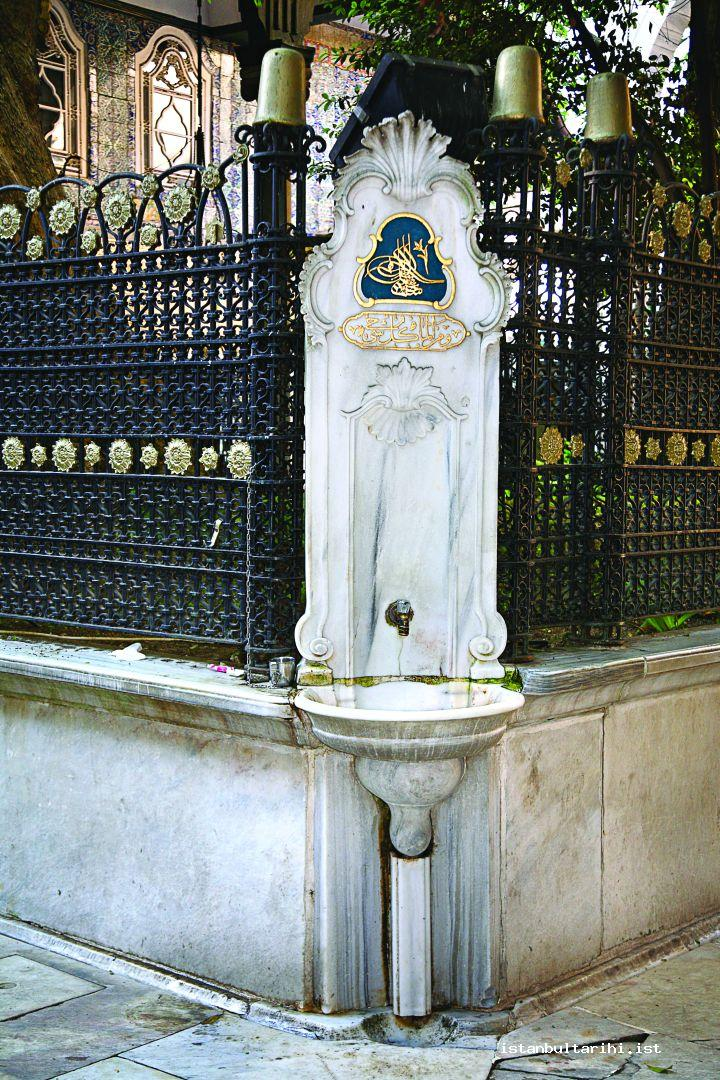 1- One of the four fountains in and around the plane tree in the yard of Eyüp Sultan Mosque