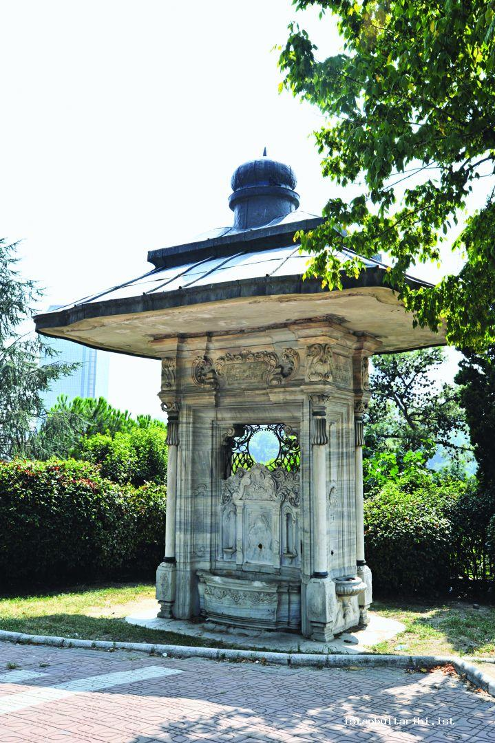17- The Fountain which was built by Sultan Abdülhamid II in front of Nusretiye Mosque but then moved to Maçka district during road constructions